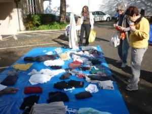 Clothing swap at TPA's Holiday Expo. Photo by Sven Eberlein