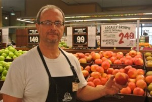 Norm Leger, produce supervisor at Farm Boy in Cornwall, said the store promotes as much local food as possible. Photo/DIANE HUNTER